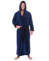 Alexander Del Rossa Men's Fleece Solid Colored Robe