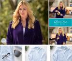 Alexander Del Rossa Women's Relaxed Fit Zip-Front Fleece Robe
