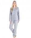 PajamaMania Women's Flannel Long Sleeve Pajama Set