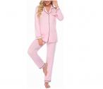 Ekouaer Long Sleeve Pajama Set