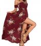 Verdusa Casual V Neck Side Split Beach Long Maxi Dress