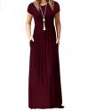 DEARCASE Long Sleeve Loose-Fitting Maxi Dress